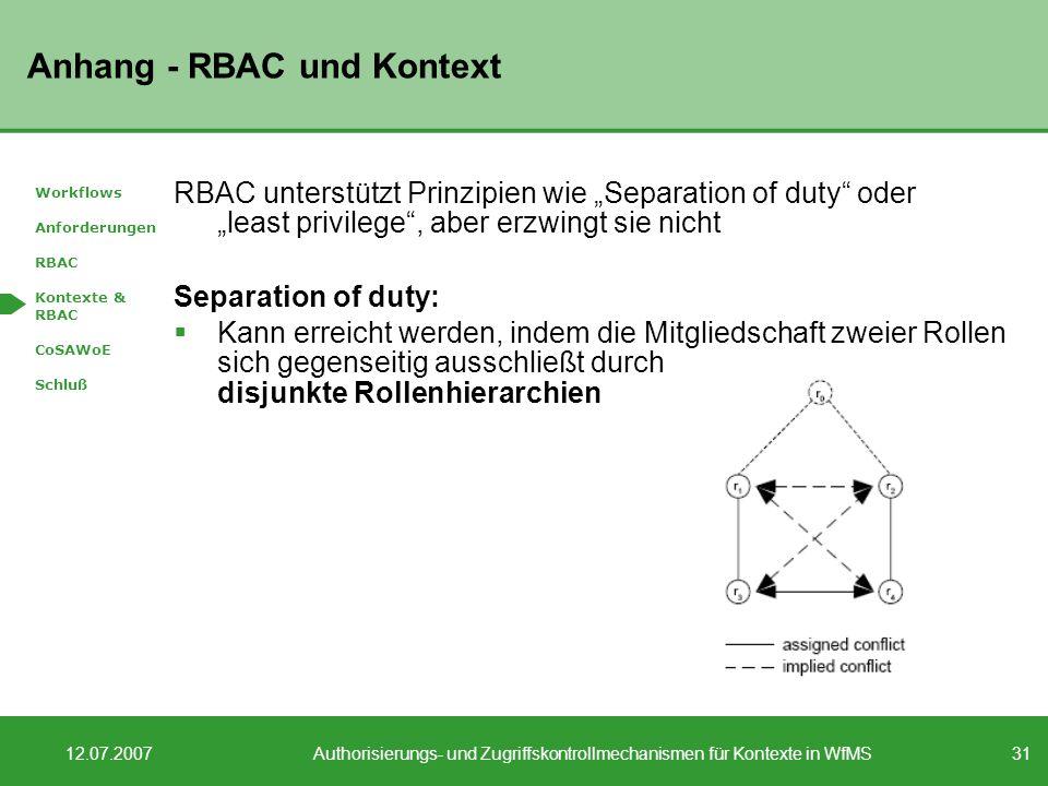Anhang - RBAC und Kontext