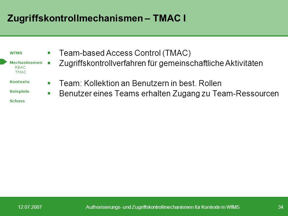 Zugriffskontrollmechanismen – TMAC I