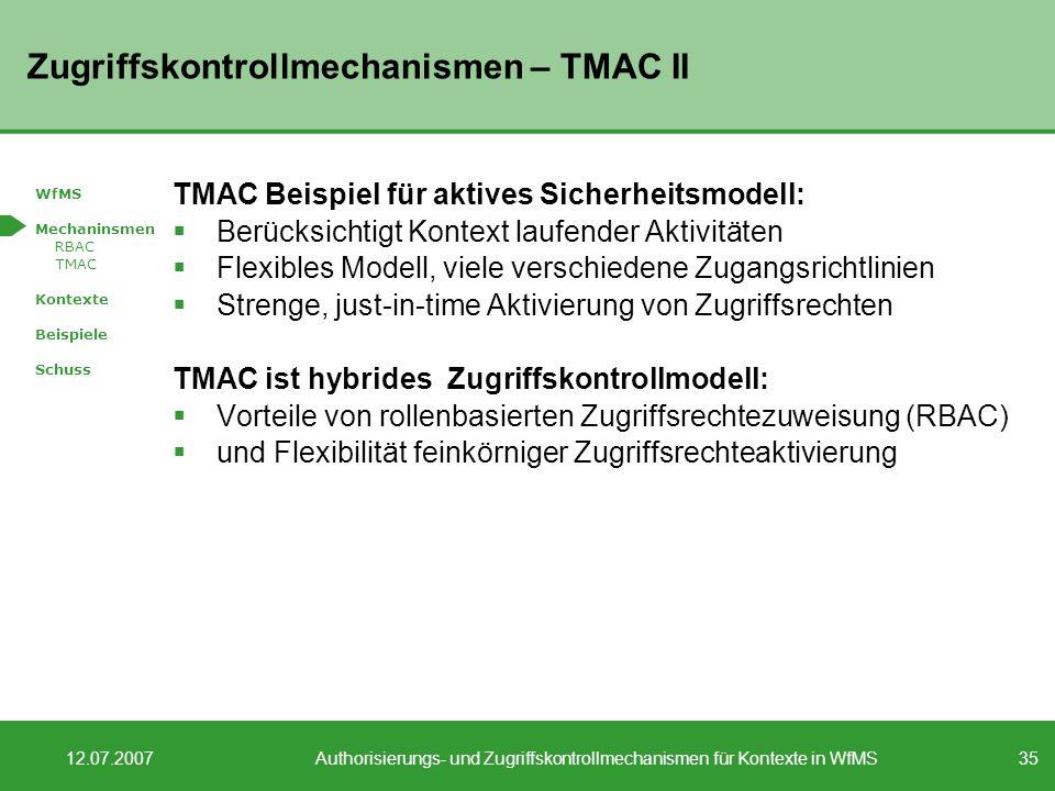 Zugriffskontrollmechanismen – TMAC II