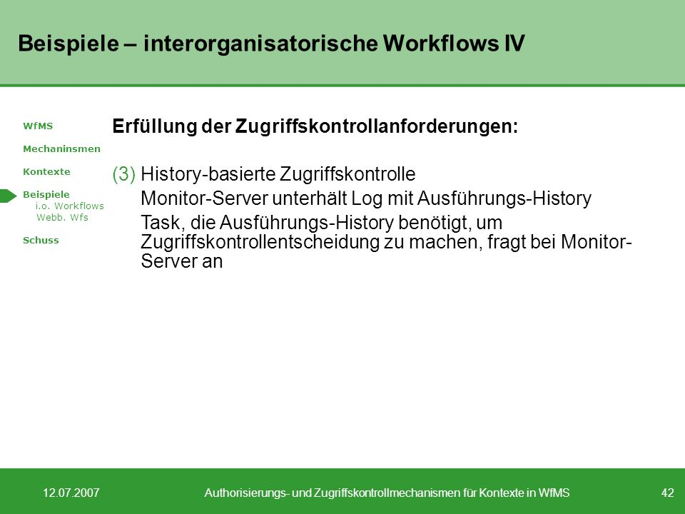 Beispiele – interorganisatorische Workflows IV