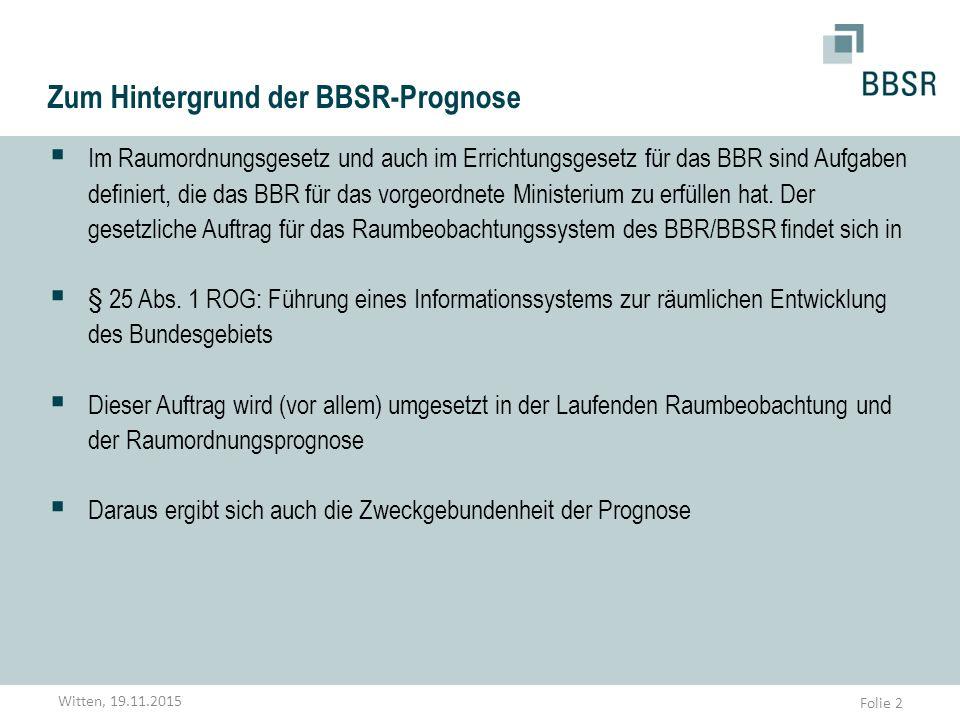Zum Hintergrund der BBSR-Prognose
