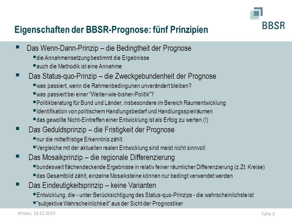 Eigenschaften der BBSR-Prognose: fünf Prinzipien
