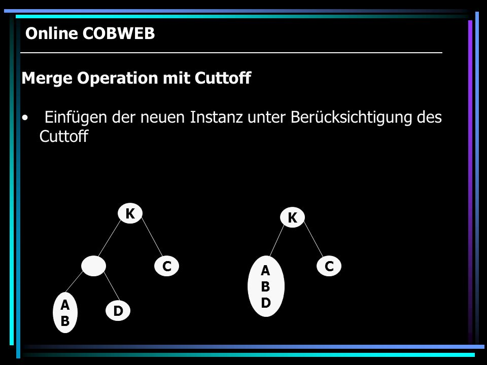 Merge Operation mit Cuttoff