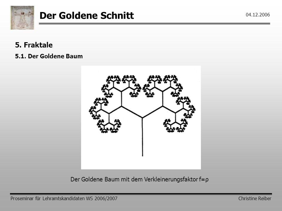 Der Goldene Schnitt 5. Fraktale 5.1. Der Goldene Baum