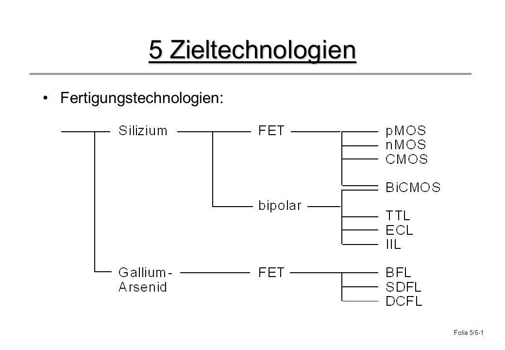 5 Zieltechnologien Fertigungstechnologien:
