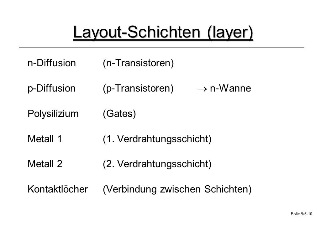Layout-Schichten (layer)