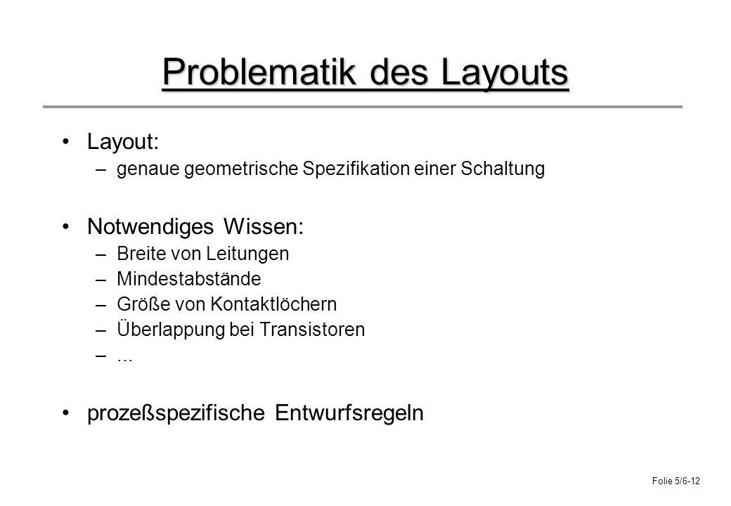 Problematik des Layouts