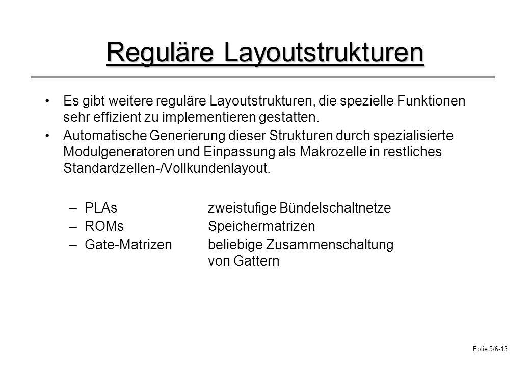 Reguläre Layoutstrukturen