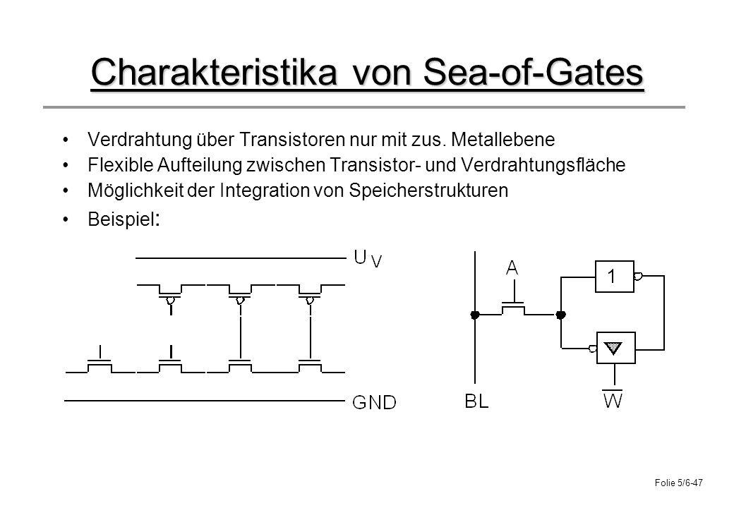 Charakteristika von Sea-of-Gates