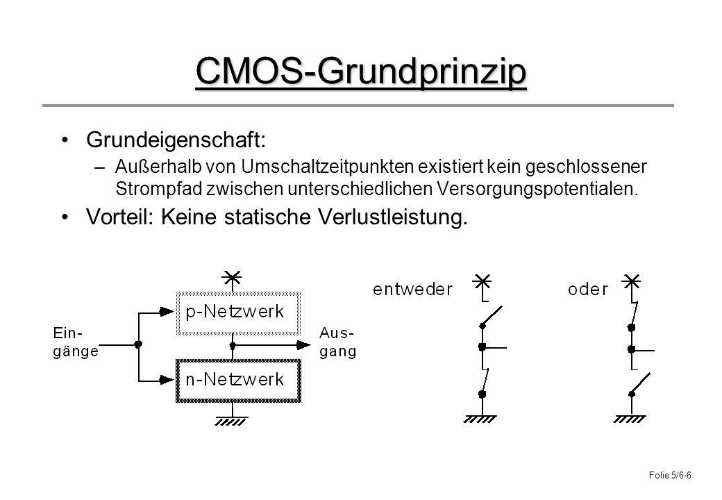 CMOS-Grundprinzip Grundeigenschaft: