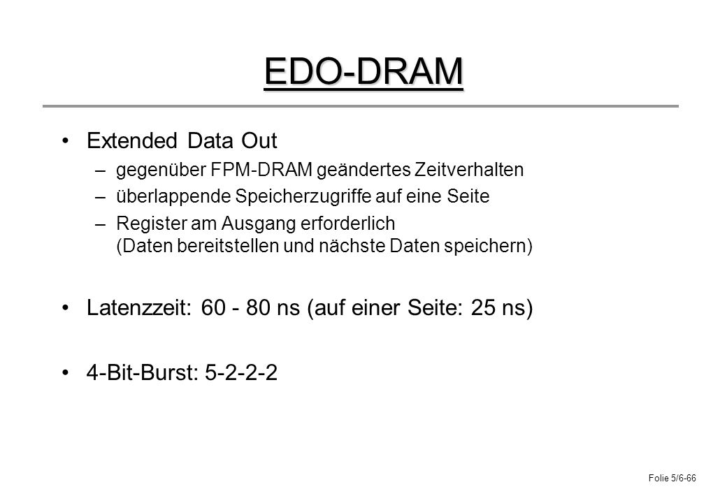 EDO-DRAM Extended Data Out