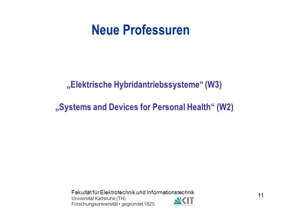 """Neue Professuren """"Elektrische Hybridantriebssysteme (W3)"""
