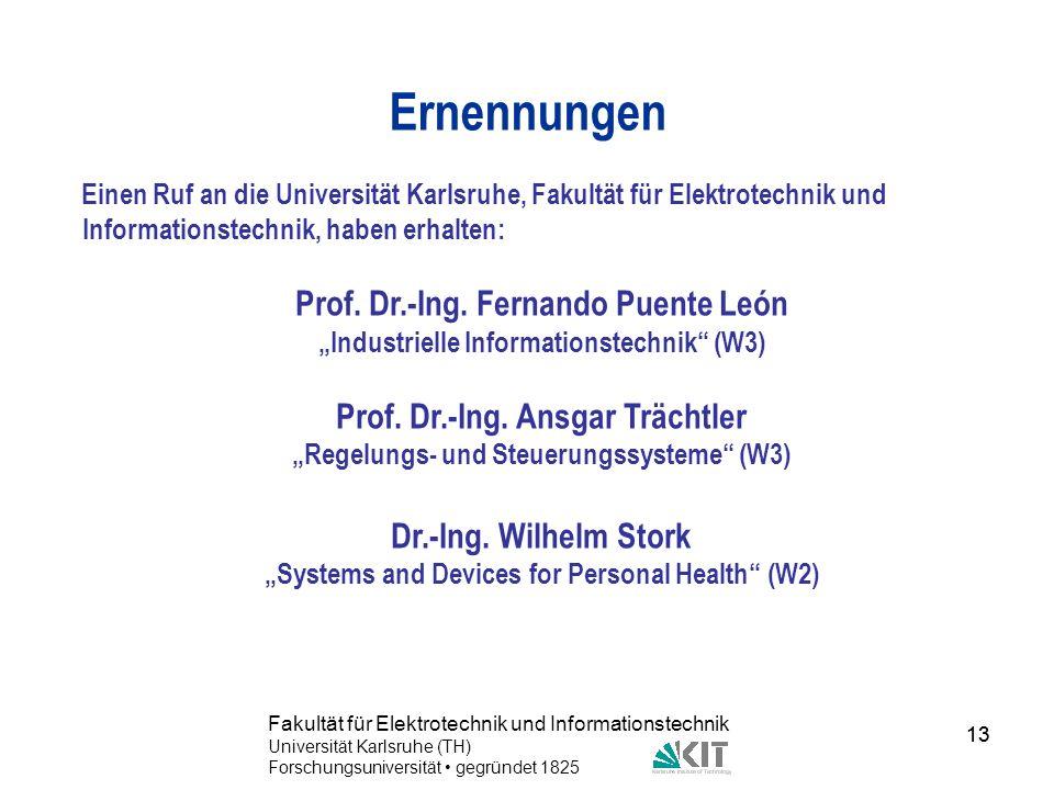 Ernennungen Prof. Dr.-Ing. Fernando Puente León