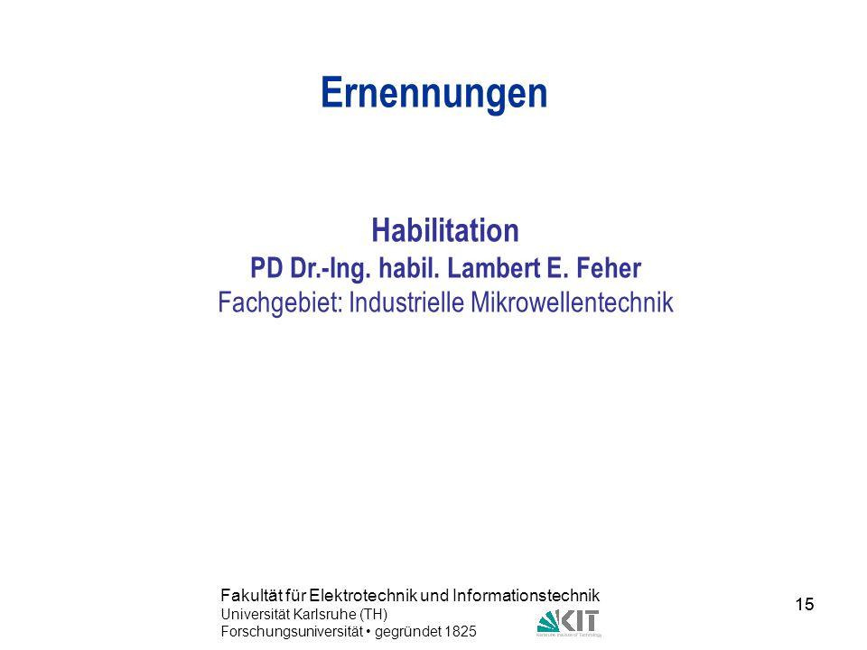PD Dr.-Ing. habil. Lambert E. Feher