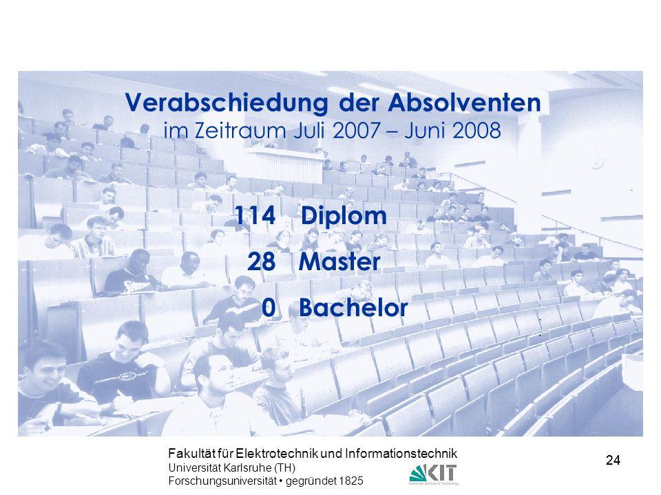 Verabschiedung der Absolventen im Zeitraum Juli 2007 – Juni 2008