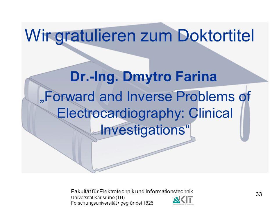 Wir gratulieren zum Doktortitel
