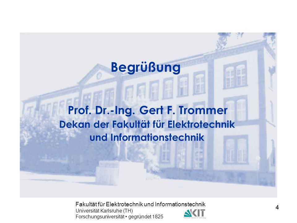 Dekan der Fakultät für Elektrotechnik und Informationstechnik