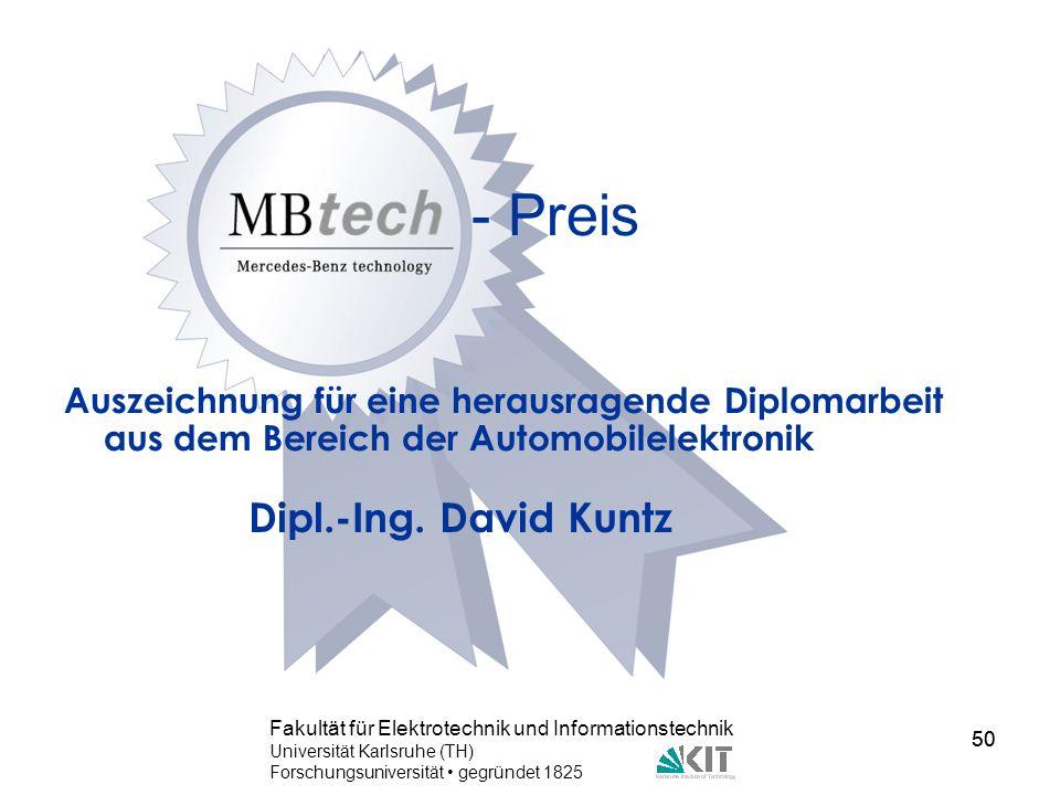 - Preis Dipl.-Ing. David Kuntz