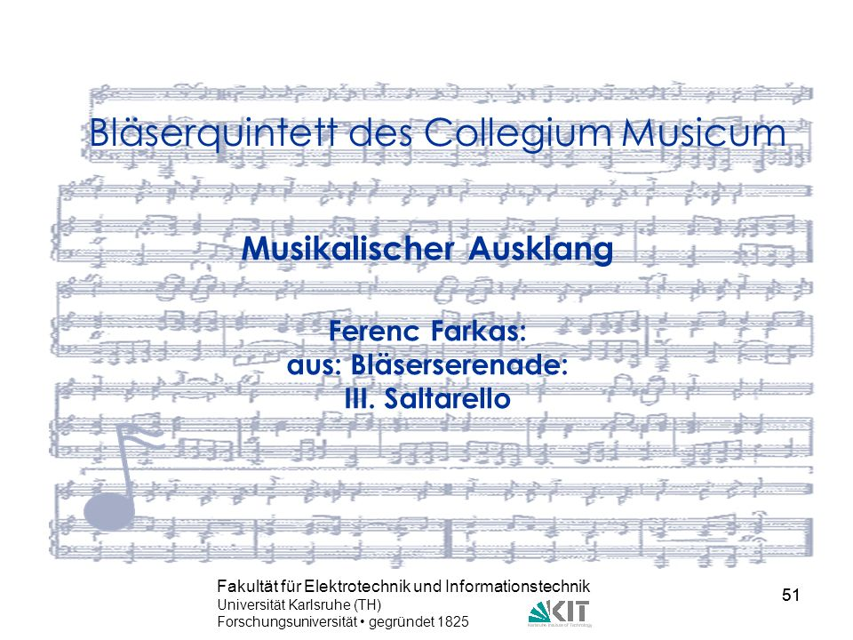 Bläserquintett des Collegium Musicum