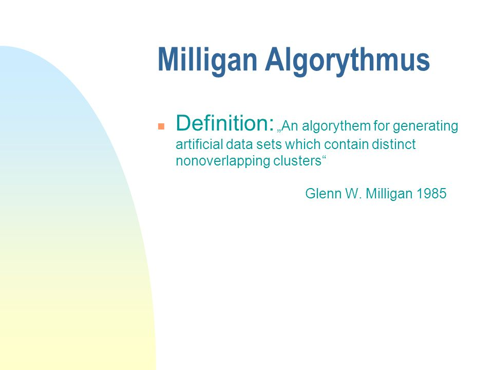 Milligan Algorythmus
