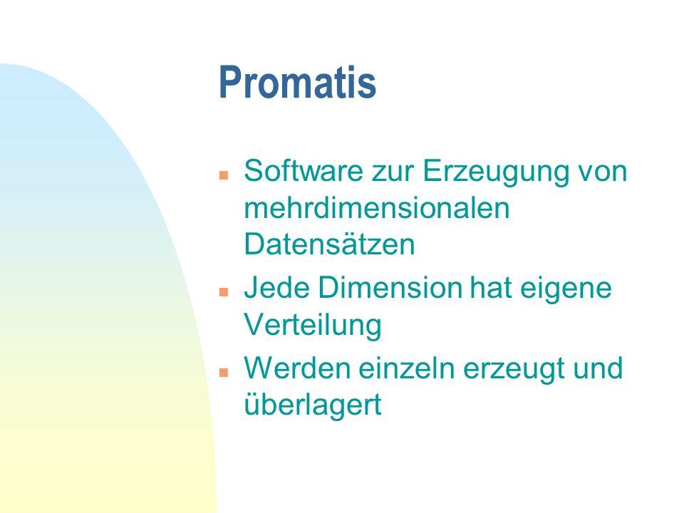 Promatis Software zur Erzeugung von mehrdimensionalen Datensätzen