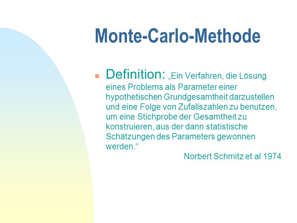 Monte-Carlo-Methode