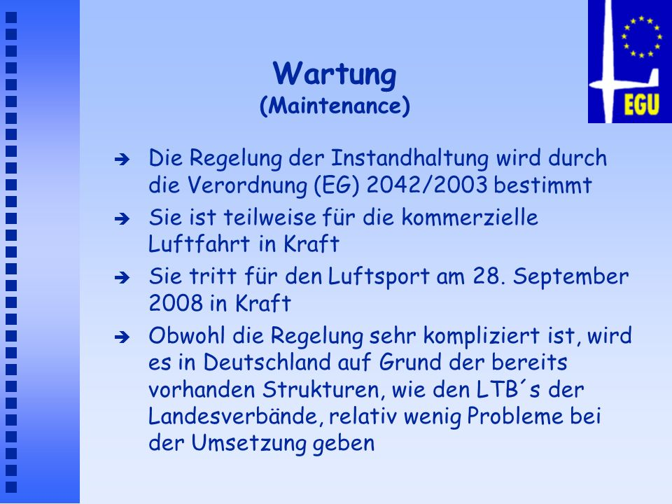Wartung (Maintenance)