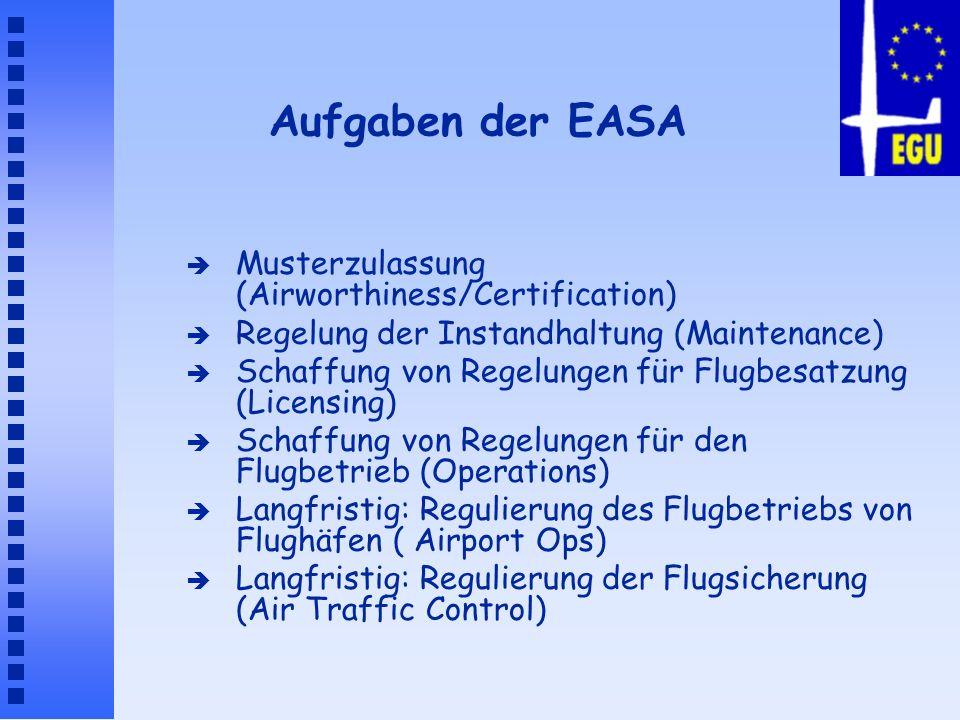 Aufgaben der EASA Musterzulassung (Airworthiness/Certification)