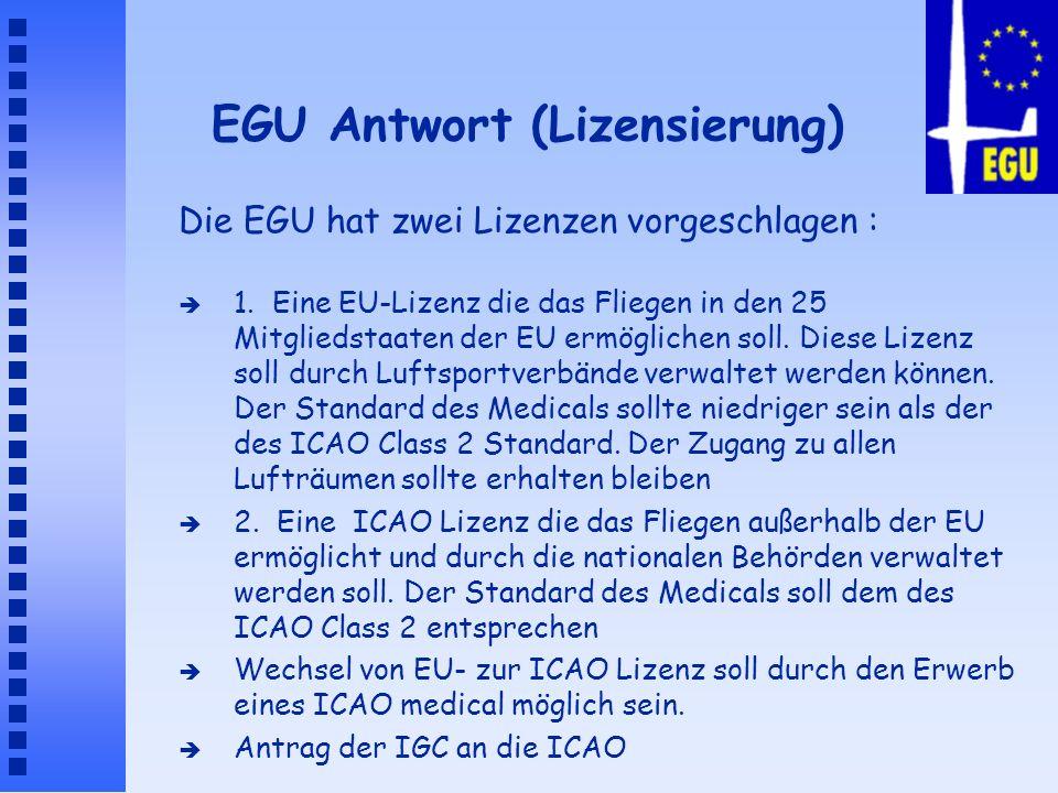 EGU Antwort (Lizensierung)