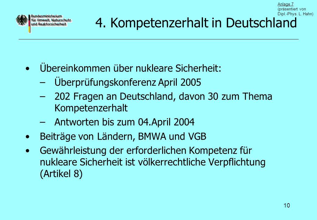 4. Kompetenzerhalt in Deutschland