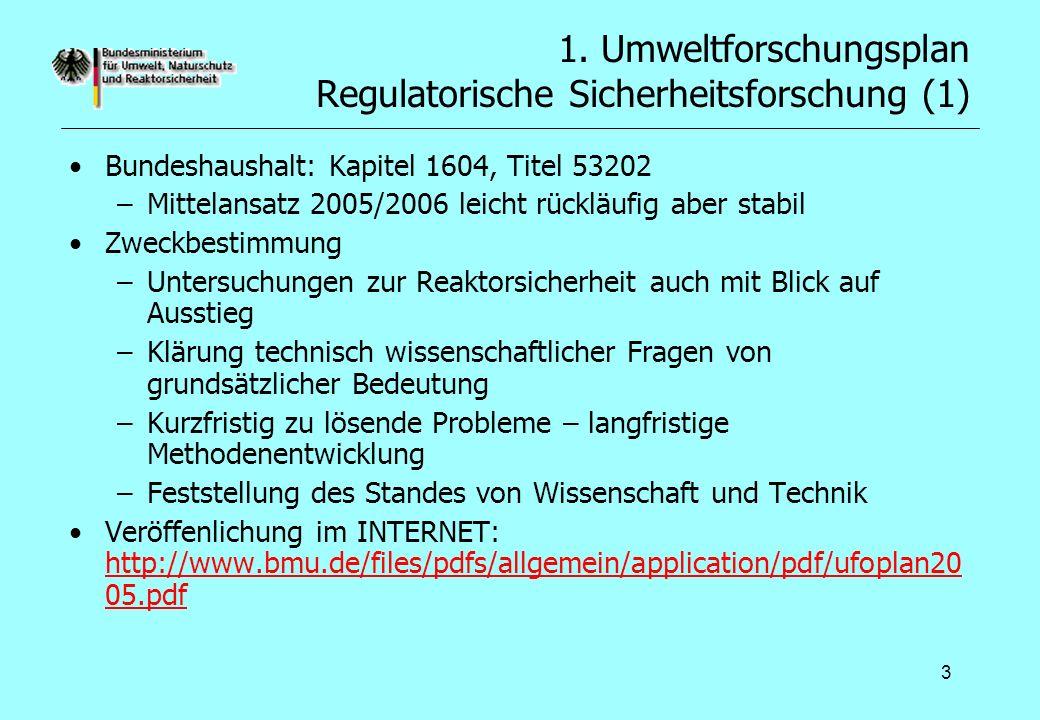 1. Umweltforschungsplan Regulatorische Sicherheitsforschung (1)