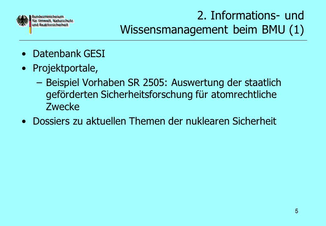 2. Informations- und Wissensmanagement beim BMU (1)