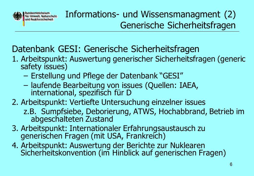 Informations- und Wissensmanagment (2) Generische Sicherheitsfragen