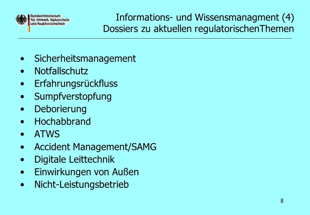 Informations- und Wissensmanagment (4) Dossiers zu aktuellen regulatorischenThemen