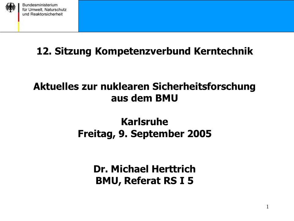 12. Sitzung Kompetenzverbund Kerntechnik