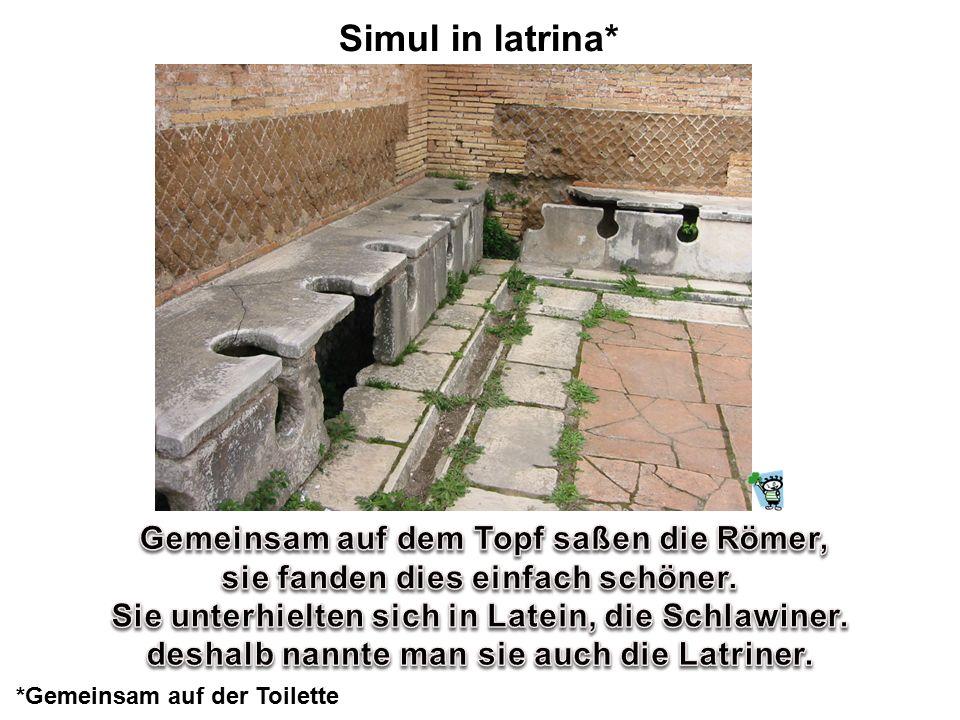 Simul in latrina* Gemeinsam auf dem Topf saßen die Römer,