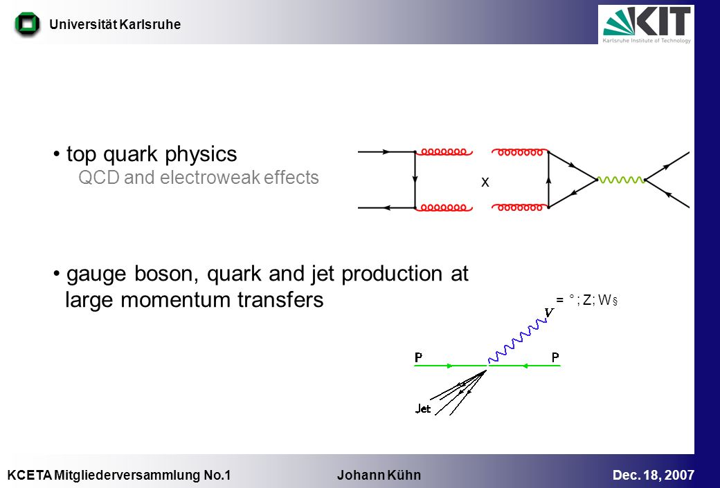 gauge boson, quark and jet production at large momentum transfers