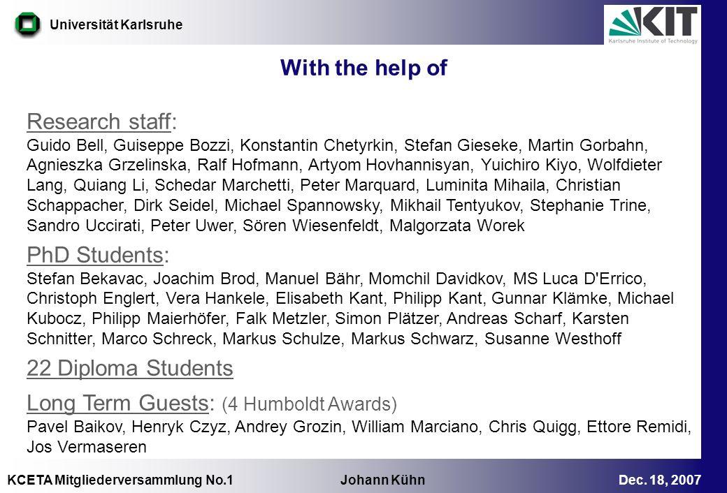 Long Term Guests: (4 Humboldt Awards)
