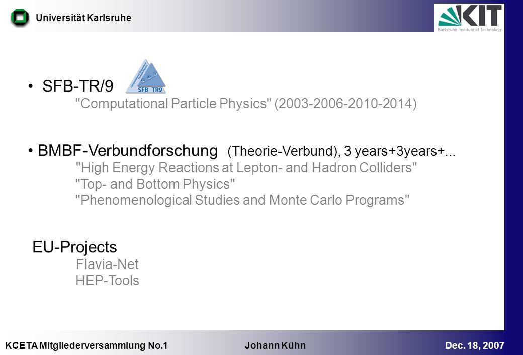 BMBF-Verbundforschung (Theorie-Verbund), 3 years+3years+...