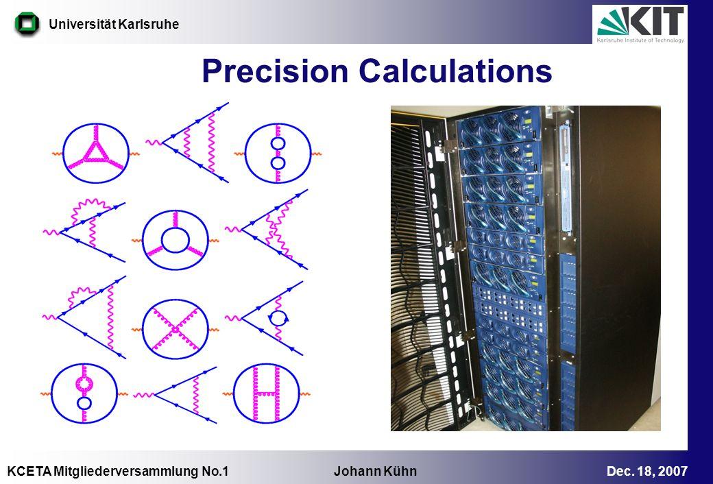 Precision Calculations