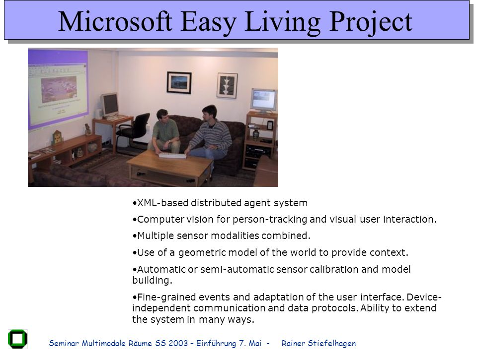 Microsoft Easy Living Project