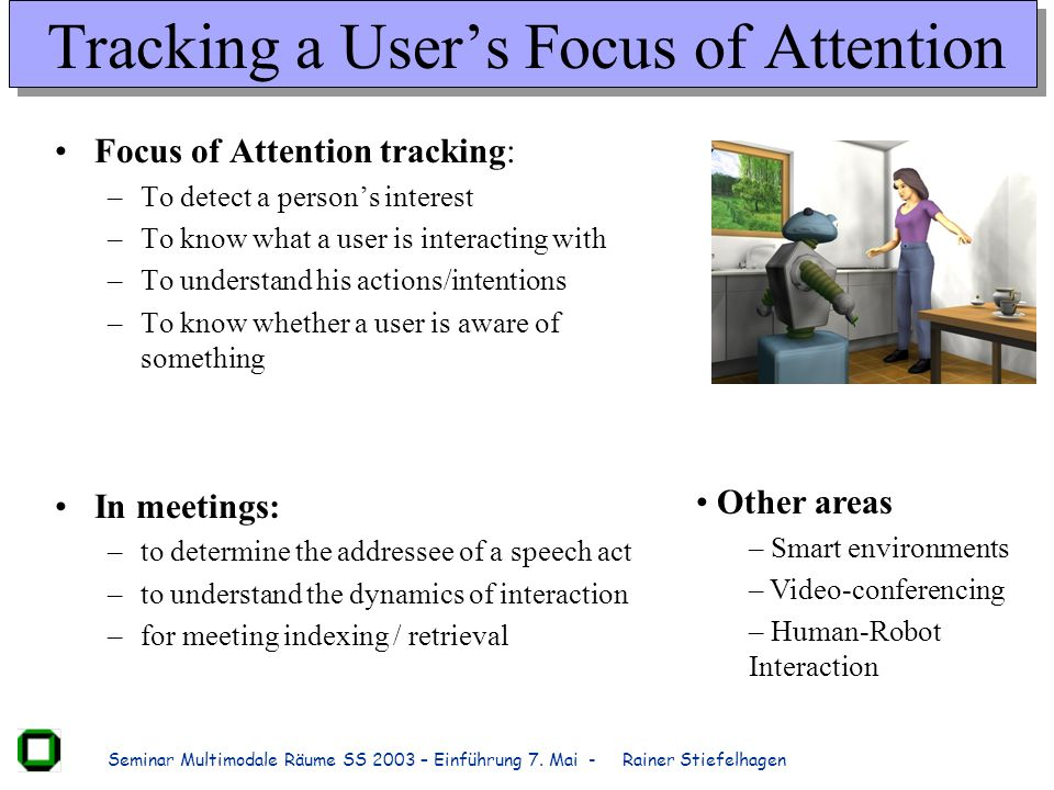 Tracking a User's Focus of Attention