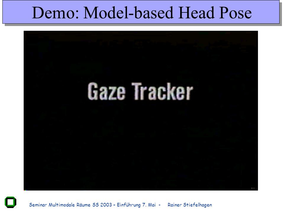 Demo: Model-based Head Pose