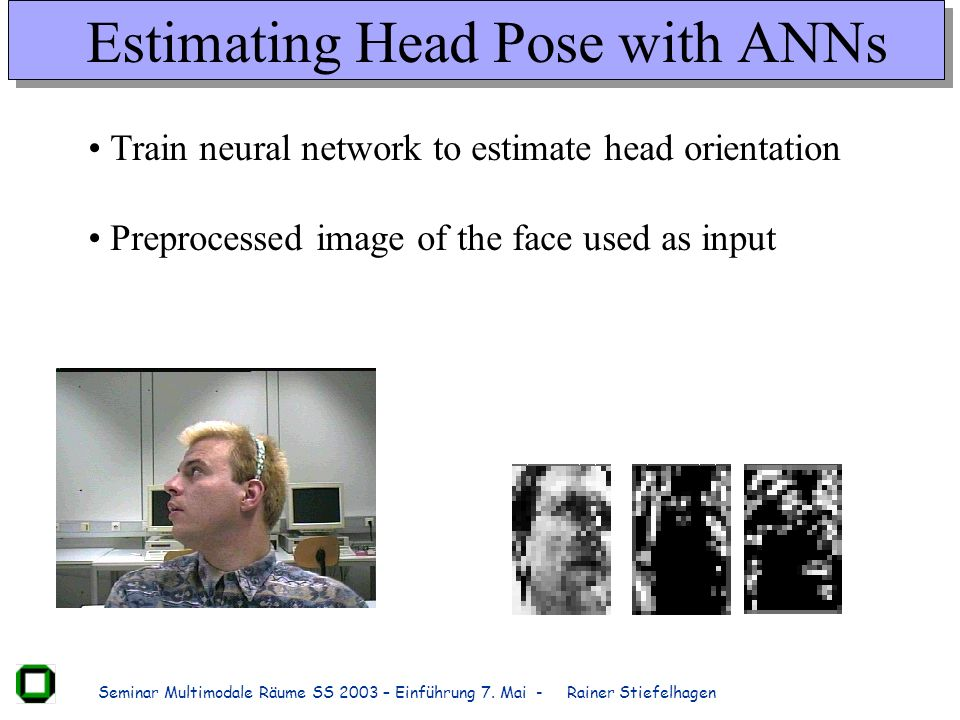 Estimating Head Pose with ANNs