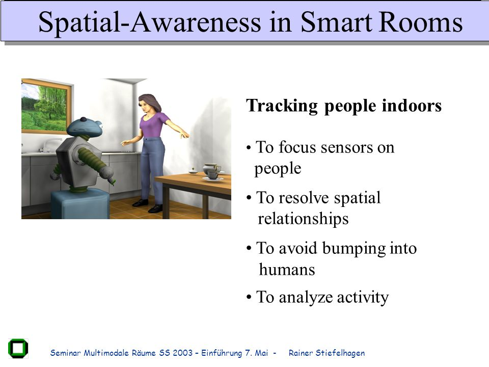 Spatial-Awareness in Smart Rooms
