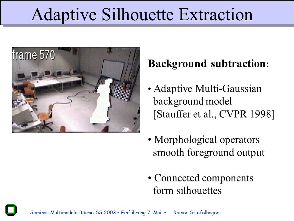 Adaptive Silhouette Extraction