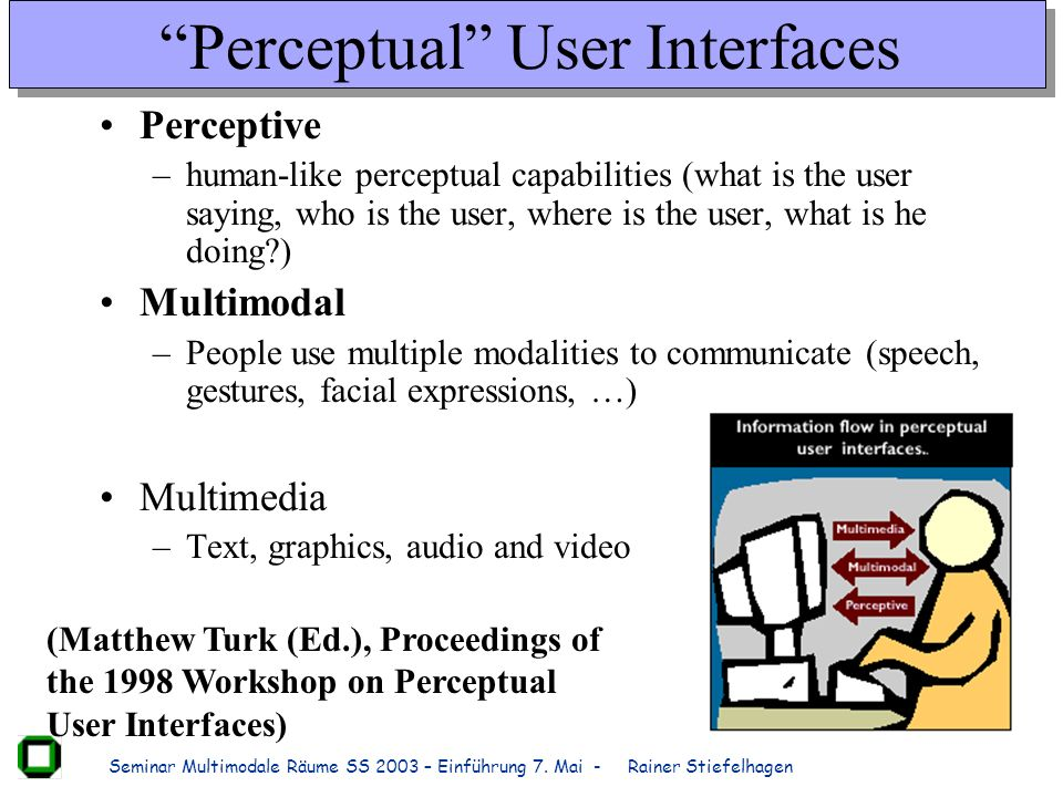 Perceptual User Interfaces