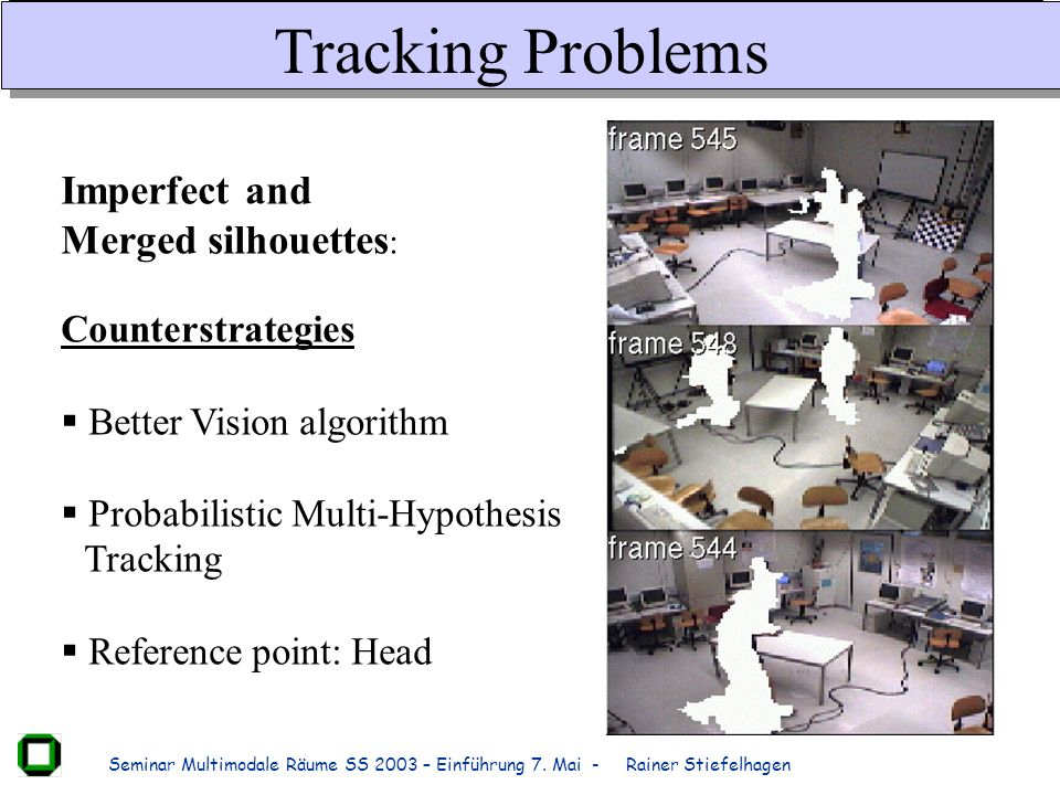Tracking Problems Imperfect and Merged silhouettes: Counterstrategies