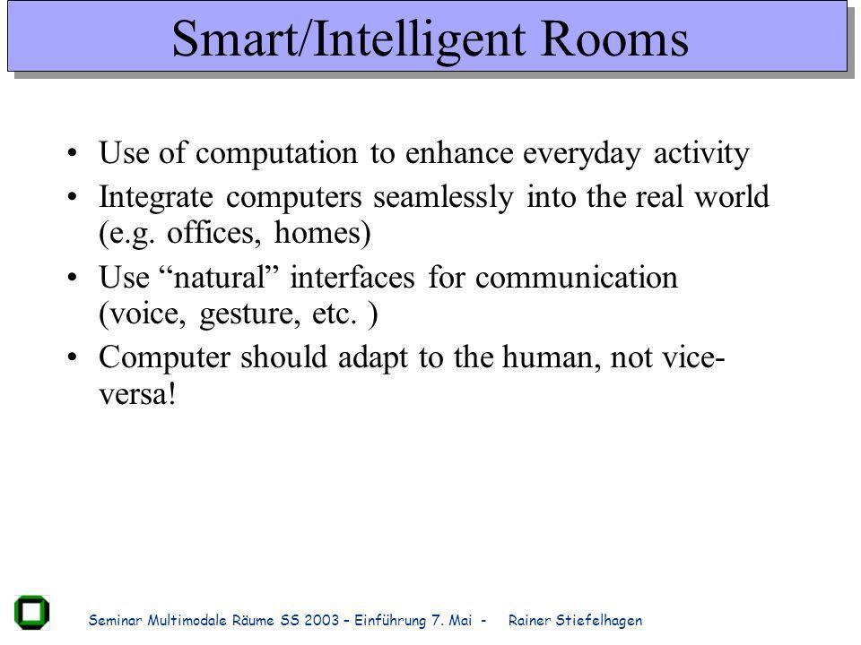 Smart/Intelligent Rooms