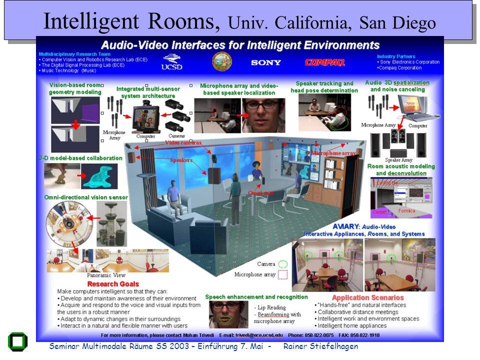 Intelligent Rooms, Univ. California, San Diego